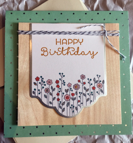 Happy Birthday, Birthday Card, papercrafting, card making